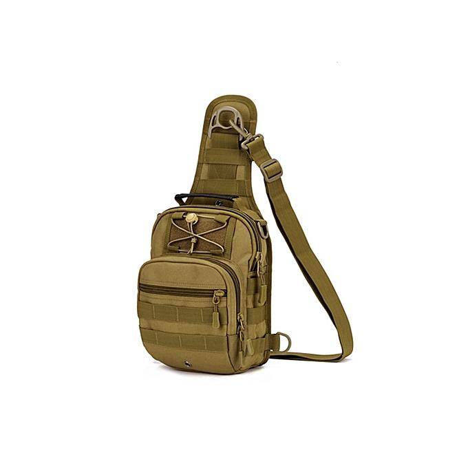 Other Norbinus 2018 Men's Shoulder Handbag  Chest Bag Sling Pack Tactical Crossbody Bags for Men Waterproof Nylon Belt Bags(Khaki) à prix pas cher