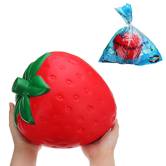 UNIVERSAL Huge Strawberry Squishy Jumbo 2520CM Fruit Slow Rising Soft Giant Toy Gift Collection With Packag- à prix pas cher