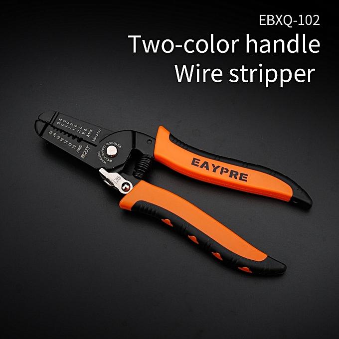 Autre Electrician Wire Stripper Multi Tool Pliers Cable Cutter Wire Stripping Crimping Tools,Oblique crimping pliers(EBXQ-102) à prix pas cher