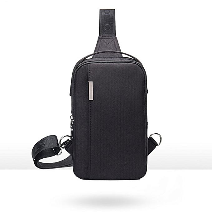 Other 2019 Waterproof Shoulder Bags Men Business Style Chest Bag Male Nylon Messenger Bags Man Fashion Crossbody Bag Men Bolsa NA-73(noir Bag) à prix pas cher