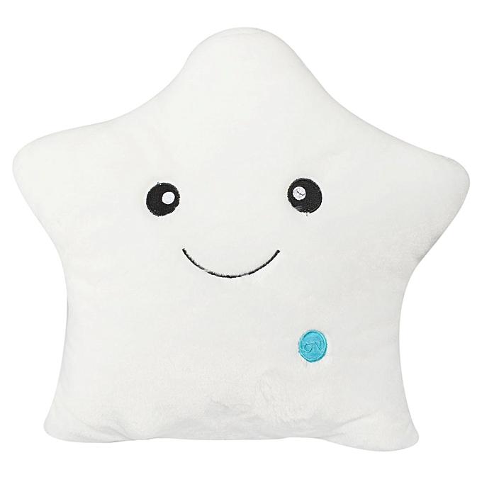 UNIVERSAL Cute Couleurful LED Stars Stuffed Dolls GFaible PilFaible Popular Plush lumière Toys Gift blanc à prix pas cher