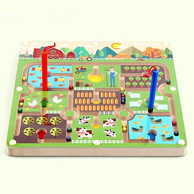Autre Puzzle de labyrinthe magnétique en bois UR jouets interactifs aihommet perles jouet Eduactional labyrinthe à prix pas cher