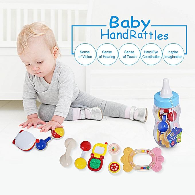 Autre GOODWAY 3315A   Hand Rattles Set Bed Bell Toys Enfants Happy Buddy Feeding Bottle Packing nouveauborns Gift à prix pas cher