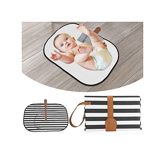 Other portable   Diaper Changing Pad With Pockets Infant Toddler imperméable Foldable Mat ( 1) à prix pas cher