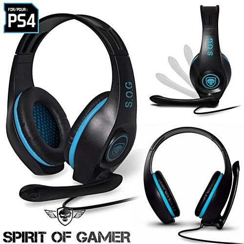 Spirit Of Gamer Casque Esports Gaming Gear Avec Microphone