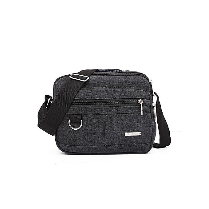 Generic Men Canvas Bag Casual Travel Men's Crossbody Bag  Men Messenger Bags BK à prix pas cher