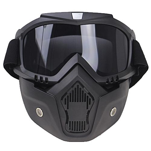 Générique Masque à Casque Noir Pour Moto Vélo Ski équitatio Quad