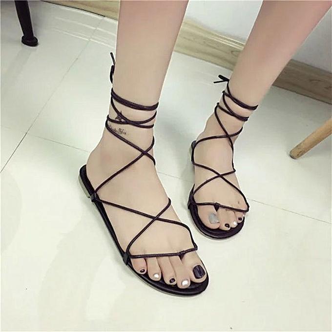 Fashion Wohommes sandals, toe chaussures, flat chaussures, cross straps, flat with Rohomme sandals, beach chaussures à prix pas cher    Jumia Maroc