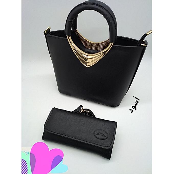 51b0141878 Générique nouveau sac a main avec portefeuille, bon qualité.noir à ...