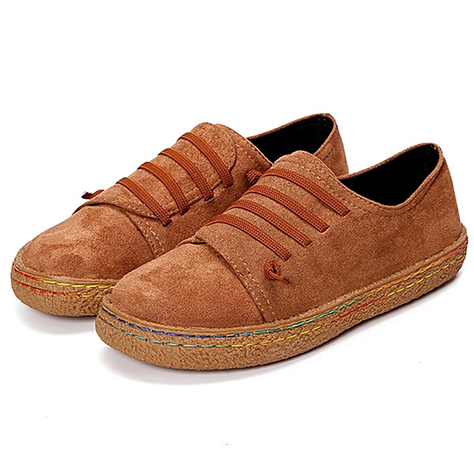 Fashion femmes Students Casual chaussures Suede Flat Lazy Loafers Sport Trainer Round Toe New à prix pas cher    Jumia Maroc