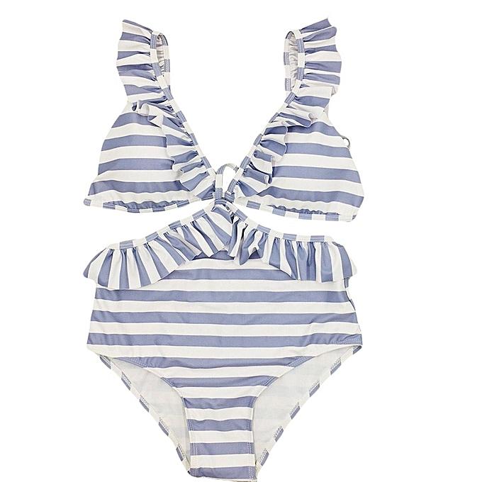mode TCE femmes Stripe impression Bikini Set Push Up Padded maillot de bain Bathing à prix pas cher