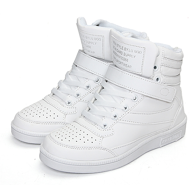 Fashion femmes Wedges Ankle bottes chaussures Casual Height Increased High Top baskets démarrageies à prix pas cher