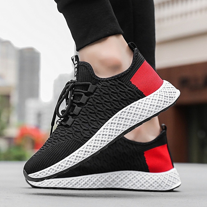 Other Spring Men Leisure Sports chaussures Flying Woven baskets-noir à prix pas cher