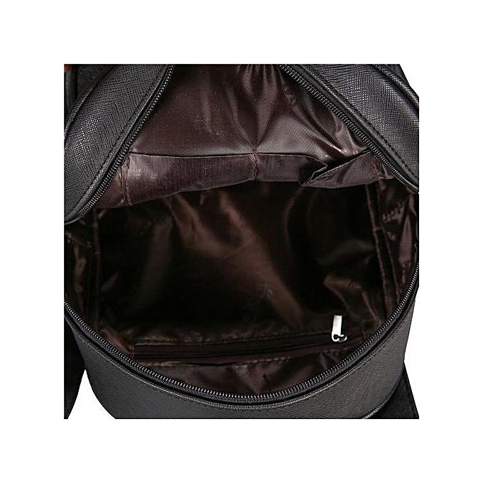 Neworldline femmes Fashion Stone Pattern Travel Satchel School Bag Backpack Bag -noir à prix pas cher