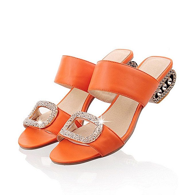 Fashion (Xiuxingzi) Wohommes Fashion Leisure Water Crystal Fish Mouth Sandals Slippers chaussures à prix pas cher