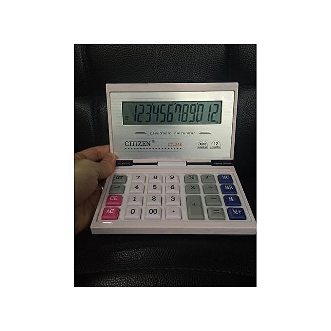 Generic Nice  CT-358 Box Calculator Flip Solar Dual Power 12-bit Display Calculator à prix pas cher