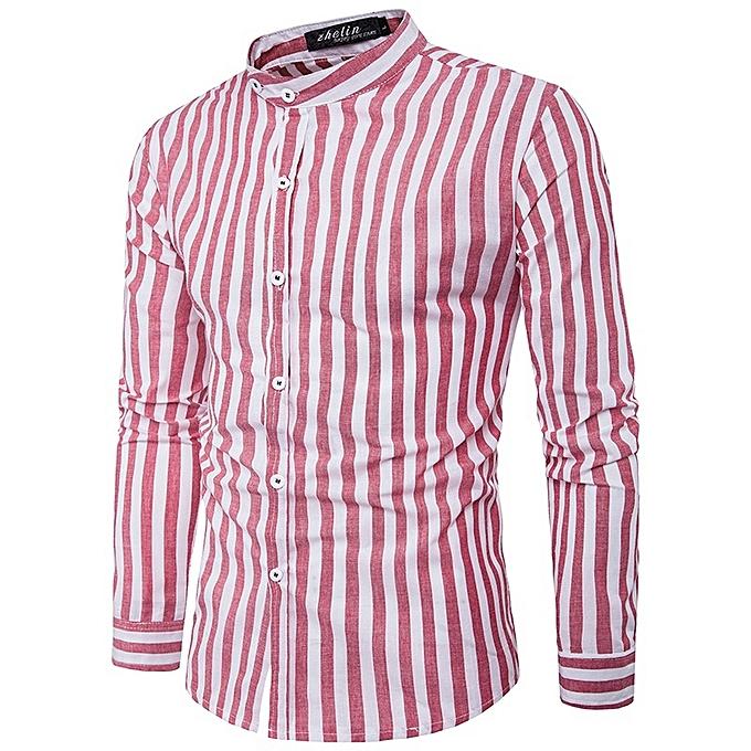 Other nouveau mode manche longues Décontracté Hommes& 039;s Cross Stripes Shirt à prix pas cher