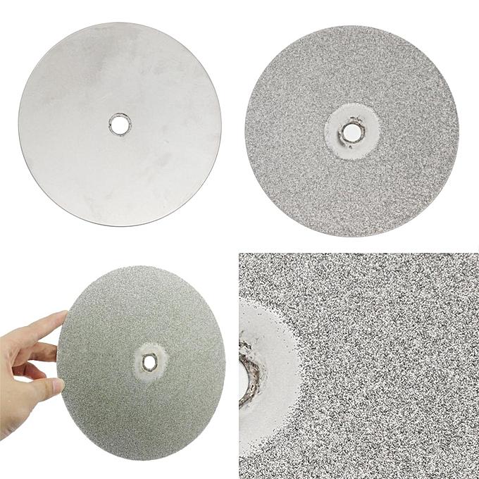 UNIVERSAL 8  Inch Grit 80  Diamond Coated Flat Lap Wheel Jewelry Lapidary Polishing Disc à prix pas cher