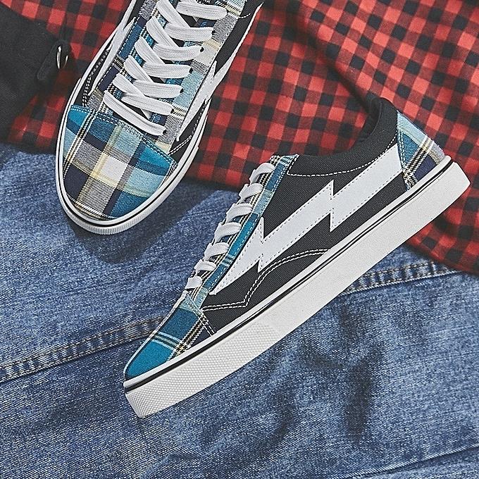 Autre Korea  's Plaids Plaids 's Patchwork Canvas Shoes à prix pas cher    Jumia Maroc 8b7a79