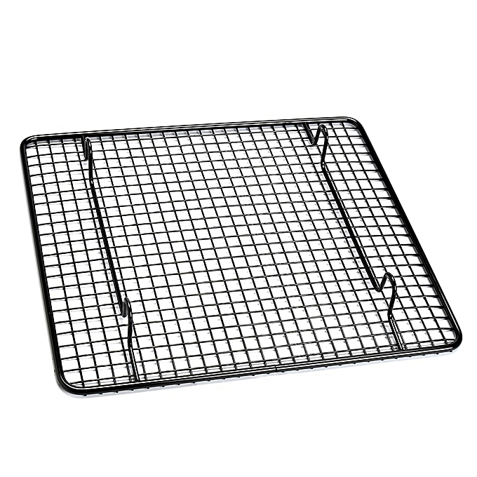 UNIVERSAL 26x23cm Carbon Steel Kitchen Baking Wire Pan Cooling Racks BBQ Sheet Bakeware à prix pas cher