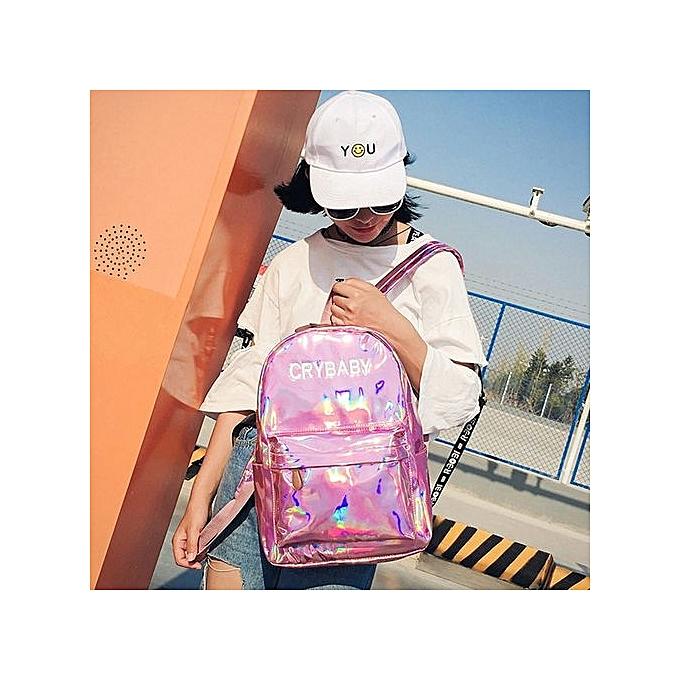 nouveauorldline femmes Hommes sac à dos Shoulder Booksacs School Satchel voyage sac à dos - rose à prix pas cher