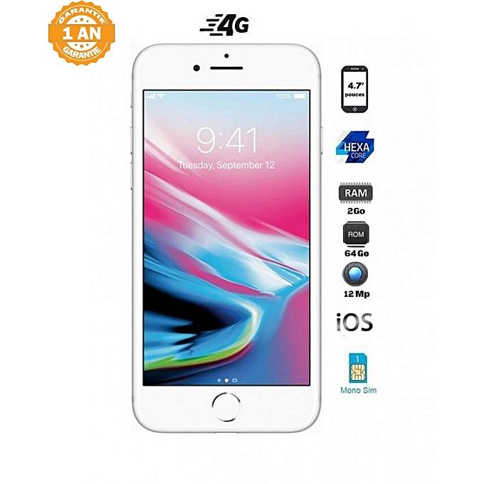 iphone 8 4 7 64go 2go ios blanc achat t l phones tablettes jumia maroc. Black Bedroom Furniture Sets. Home Design Ideas