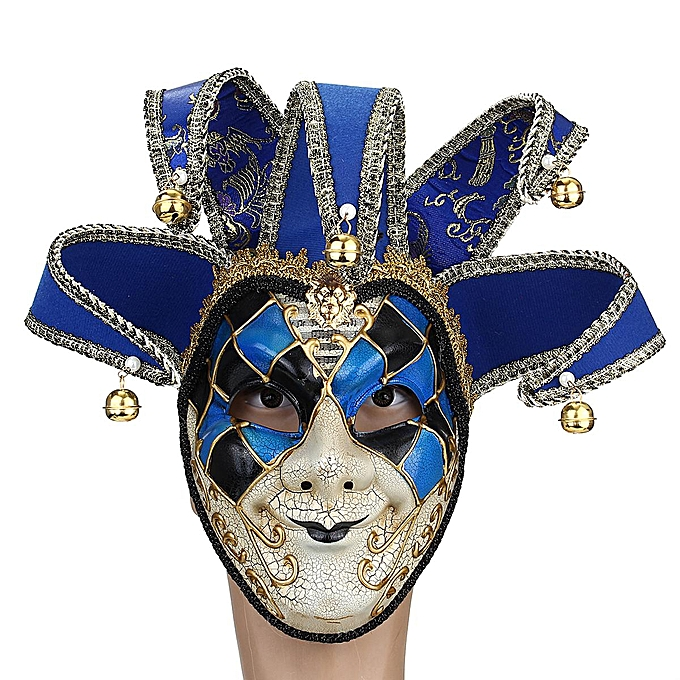 OEM rouge noir bleu Creative Clown Mask Halloween European and American Atmosphere D à prix pas cher