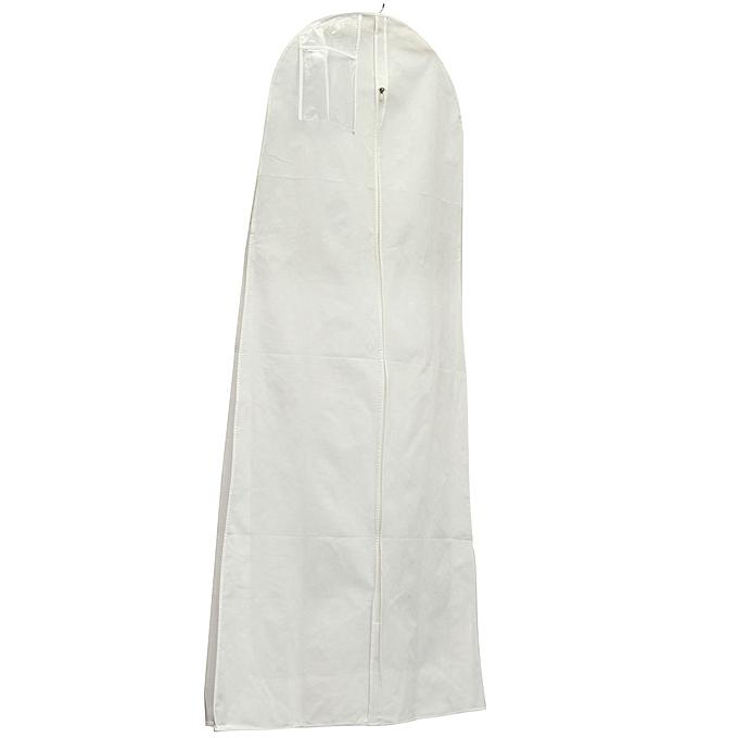 UNIVERSAL 1.8M Showerproof Garment Dress Cover Long Bridal Wedding Dresses Storage Bag blanc à prix pas cher