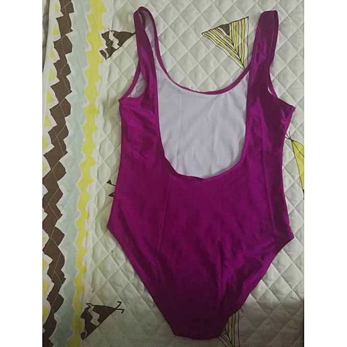 Autre maillot de bain Thong rose Lips Print maillot de bain femmes High Waist Bathing Suit Girls Backless noir Bodysuit(violet) à prix pas cher