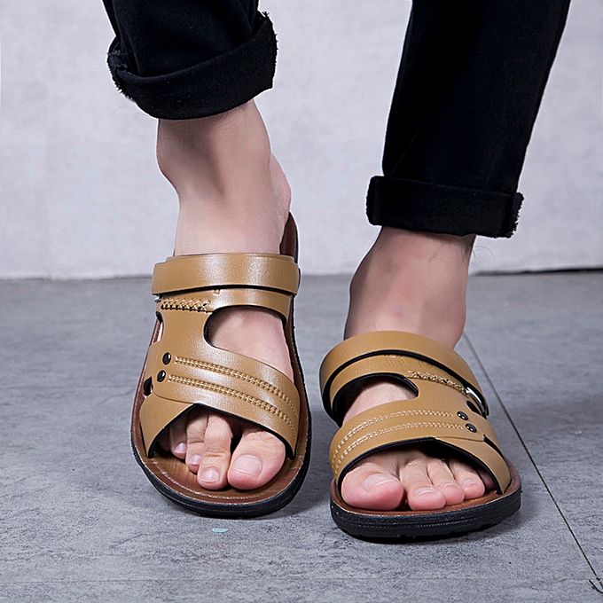 Fashion (Xiuxingzi) Summer Men's Sandals Beach chaussures Casual chaussures Non-Slip Slippers Open-Toe Sandals à prix pas cher    Jumia Maroc