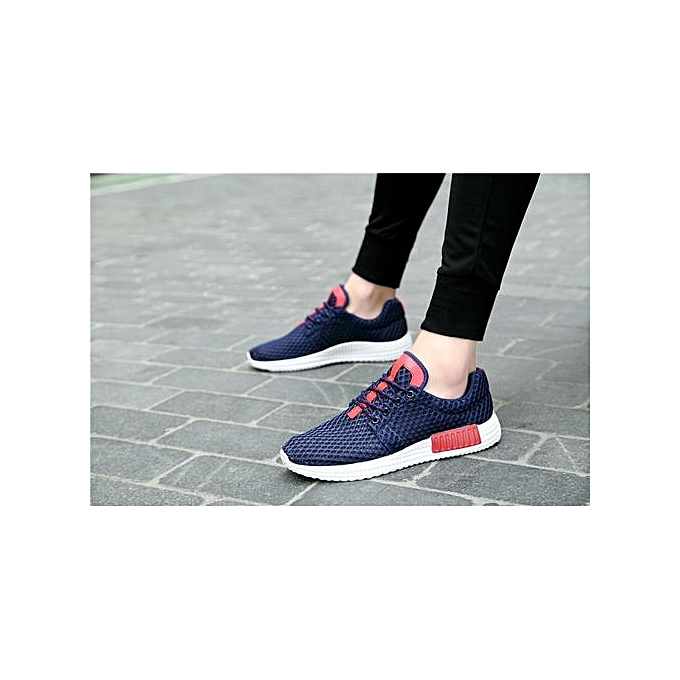 HT   Breathable Breathable Breathable Sport Shoes Outdoor Running Jogging Shoes -Blue à prix pas cher  | Jumia Maroc ed0a27