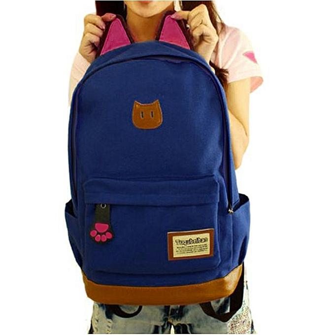 mode Tcetoctre femmes Campus Girls voyage Young Hommes sac à dos sacs Sports School sacs NY- Navy à prix pas cher