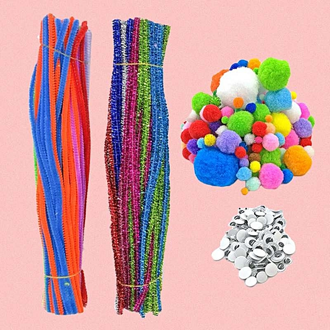 OEM New style550 PCS Complete Kids DIY Craft Supplies Kit Including Chenille Stems Wiggle Googly Eyes Pom Poms for Do-It-Yourself Craft Decorations à prix pas cher