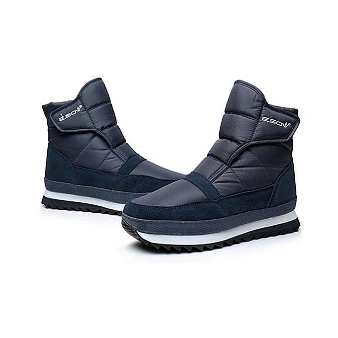 Fashion Fashion     Plush Lining Waterproof Hook Loop Snow Warm Ankle Boots-EU à prix pas cher  | Jumia Maroc 067f51