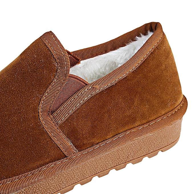 Fashion Casual Pure Color Round Toe Slip à On   Warm Cotton-padded Shoes à Slip prix pas cher  | Jumia Maroc 87f370