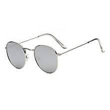 3656073bfca New Men amp woman Round Sunglasses Bright Reflective Sun Glasses -Silver  Frame Mercury Film