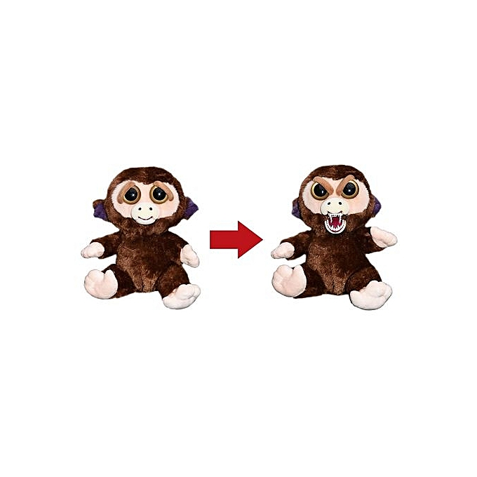 GENERAL Change Face Feisty Pets Plush Toys With drôle Expression Stuffed Animal Doll For Enfants Cute Prank Toy Christmas Gift-3 - marron à prix pas cher