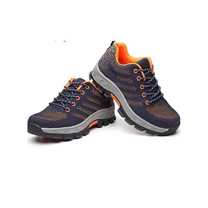 Generic en volant woven fabric respirant and odor-resistant prougeective chaussures de plein air prougeective chaussures-Orange à prix pas cher