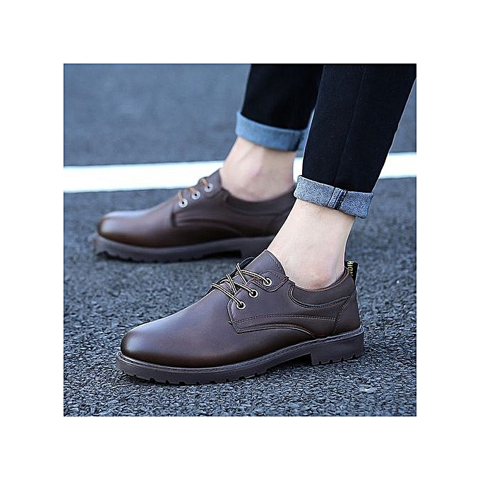 OEM New leather chaussures hommes sports chaussures trend hommes chaussures wild chaussures-marron à prix pas cher