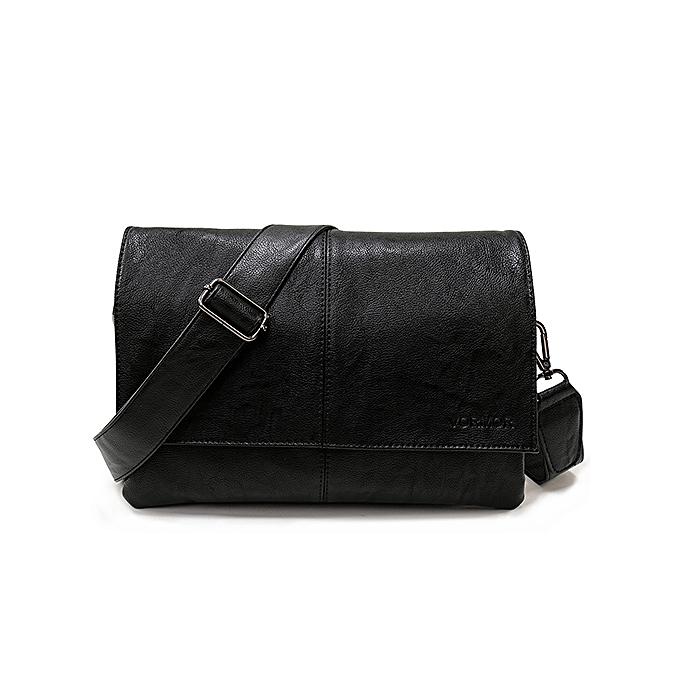 Other VORMOR Brand Casual Envelope Handbag Bags Men's Leather Shoulder Crossbody Bag Business Satchel Men Messenger Bags(noir) à prix pas cher