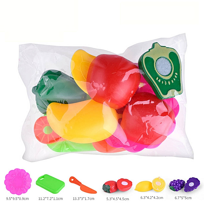 Generic Enfants Pretend Role Play Kitchen Fruit Vegetable Food Toy Cutting Set Gift Toy à prix pas cher