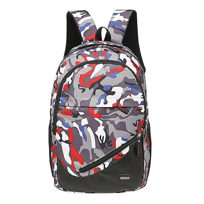 Fashion quanxinhshang_Fashion Camouflage Nylon Climb Bag Shoulder Bookbags Satchel Travel Backpack D à prix pas cher