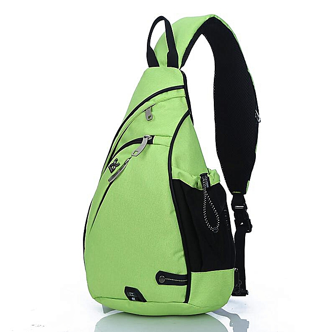 Other Brand Large Capacity Male Chest Bag High Quality Nylon Men School Bags Modern Shoulder Bag Uni Crossbody Bags Messenger Pack(vert) à prix pas cher