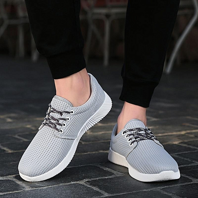 Fashion Summer Men's Outdoor Sports Breathable chaussures Casual Mesh Running baskets Flats à prix pas cher