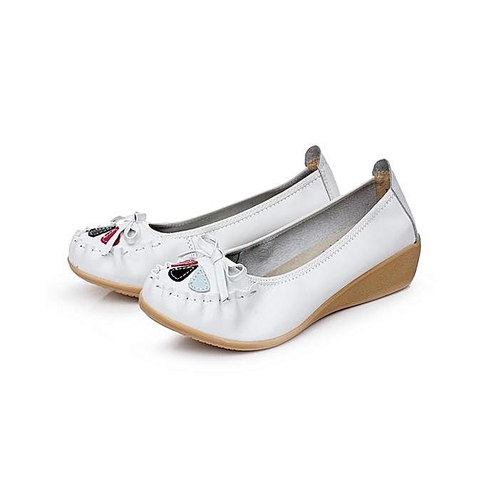 Fashion Fashion femmes Leather Bowknot Floral Slip On Flat Casual Soft chaussures à prix pas cher    Jumia Maroc