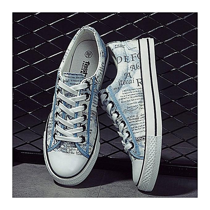 Fashion Men Casual chaussures Lace Up Canvas Breathable Outdoor Flat Fashion baskets à prix pas cher    Jumia Maroc
