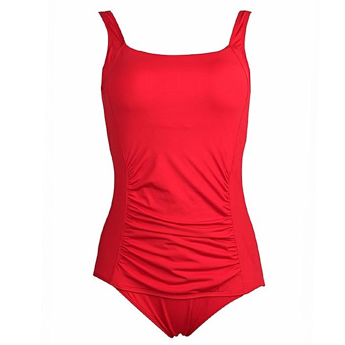 Autre New Swimsuit femmes Taille Swimwear Large Taille Vintage Retro Padded Beach Bathing Suits Swim Wear 4XL(rouge) à prix pas cher