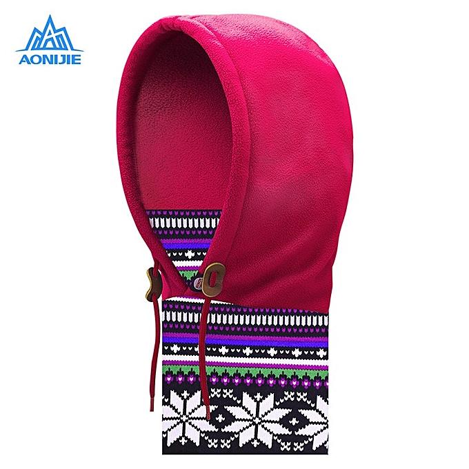 AONIJIE Outdoor Fleece Thicken Neck Mask Windproof Cap Headgear for Motorcycling Skiing Snowboarding(1) à prix pas cher