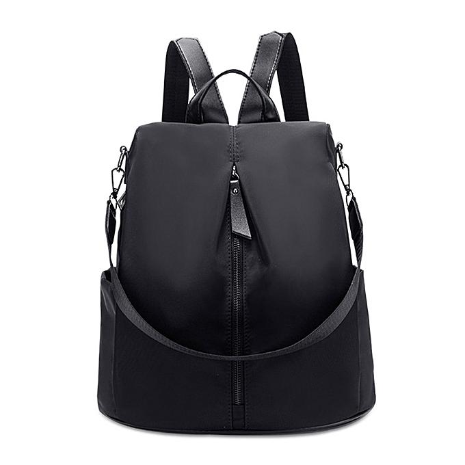 Other nouveau mode femmes sac à doss High Quality toile Female Ladies sac Korean Student sac à dos Girl School sac(noir) à prix pas cher
