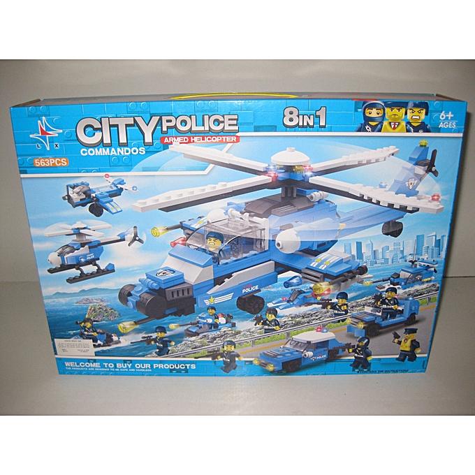 Generic CITY POLICE Jeu De Construction Compatible LEGO  à prix pas cher